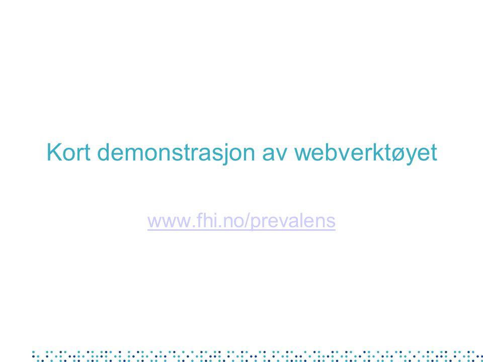 Kort demonstrasjon av webverktøyet
