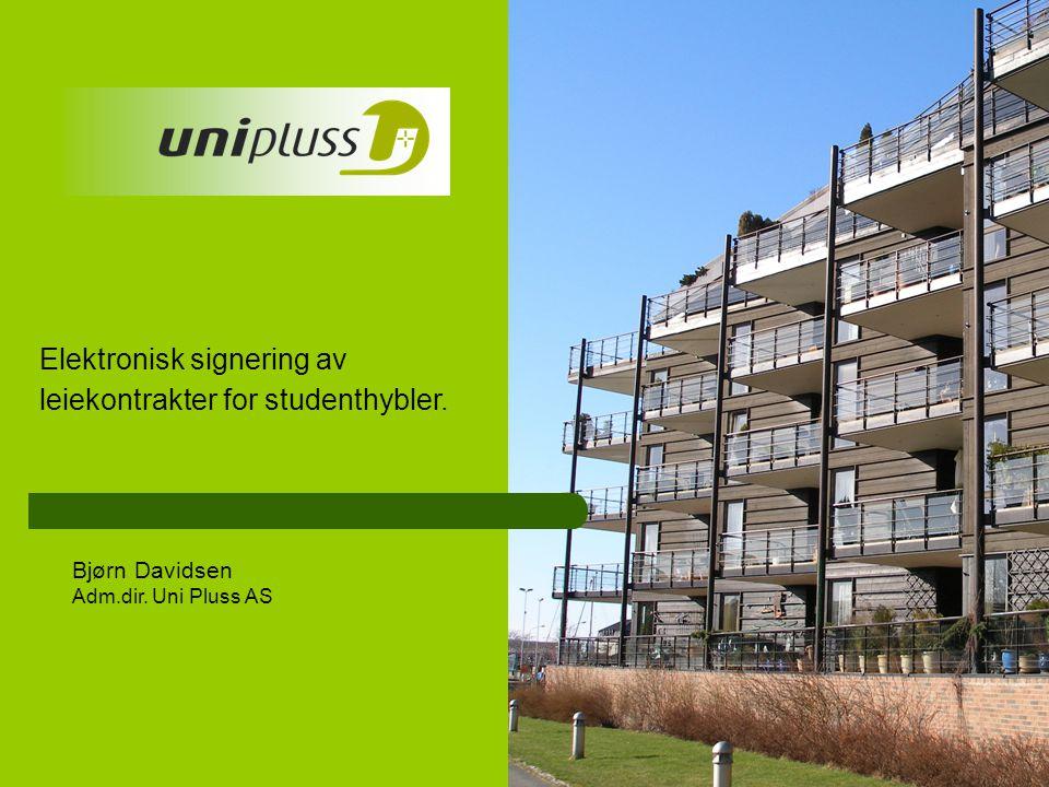 Elektronisk signering av leiekontrakter for studenthybler.