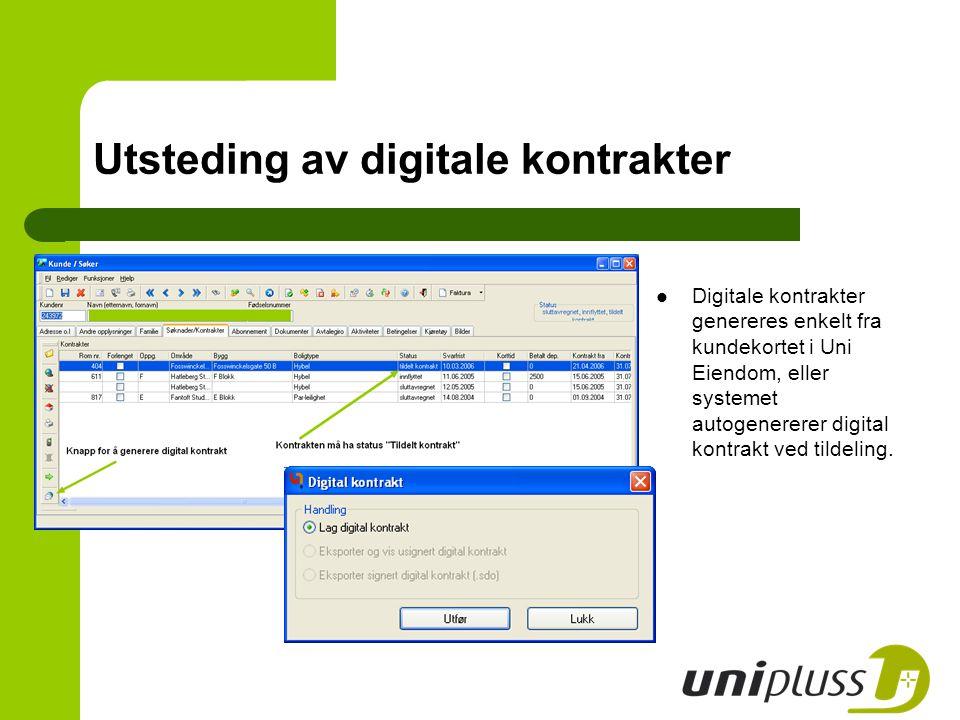 Utsteding av digitale kontrakter