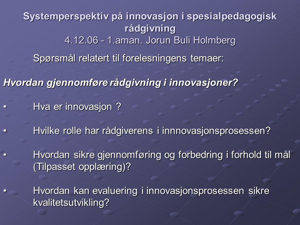 Spørsmål relatert til forelesningens temaer: