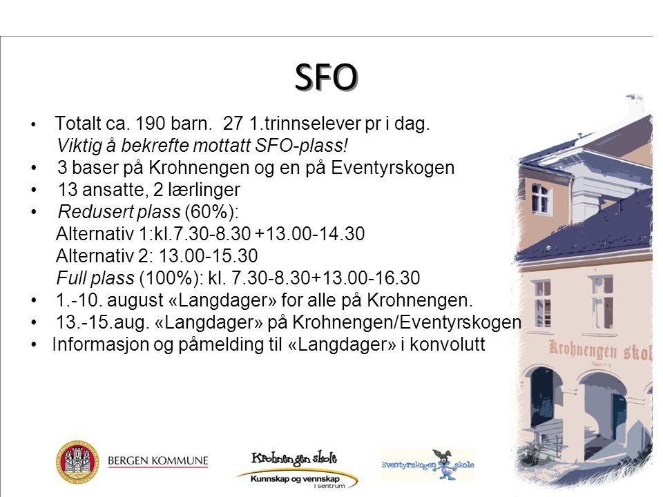 SFO Viktig å bekrefte mottatt SFO-plass!