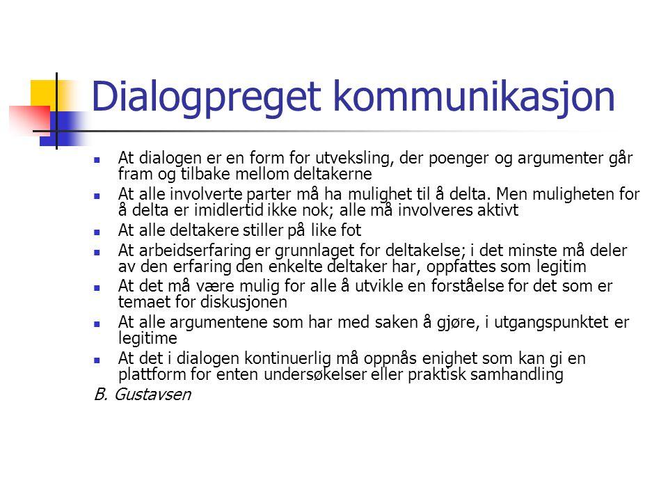 Dialogpreget kommunikasjon