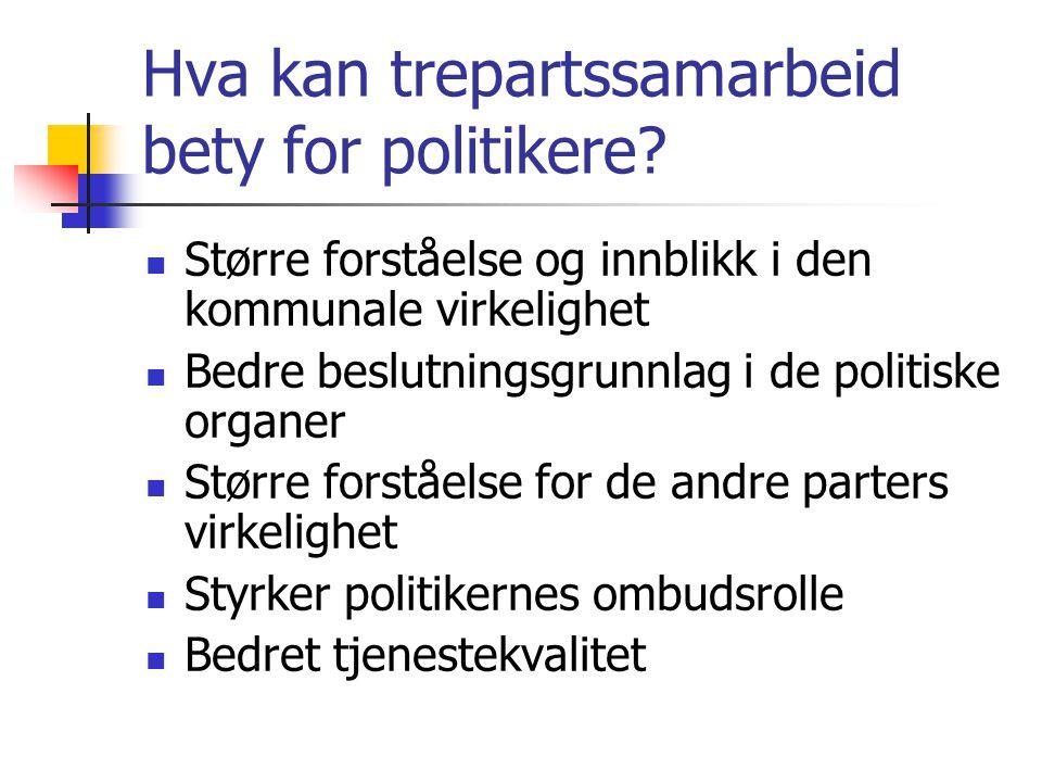 Hva kan trepartssamarbeid bety for politikere