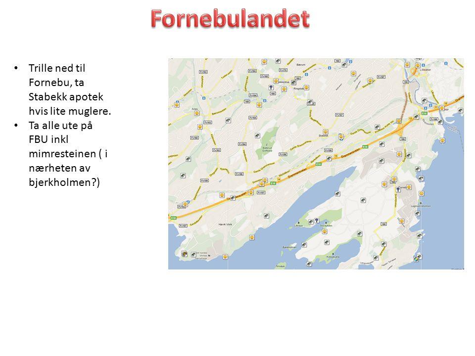 Fornebulandet Trille ned til Fornebu, ta Stabekk apotek hvis lite muglere.