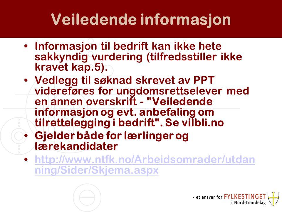 Veiledende informasjon