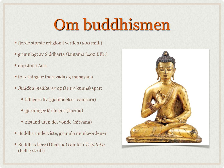 Om buddhismen fjerde største religion i verden (500 mill.)