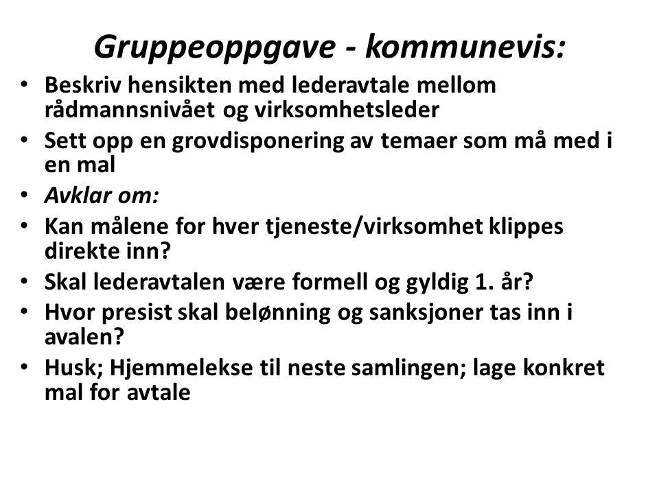 Gruppeoppgave - kommunevis: