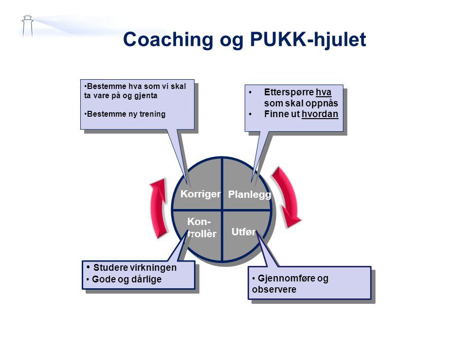 Coaching og PUKK-hjulet