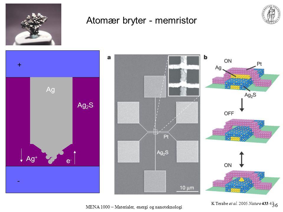 Atomær bryter - memristor