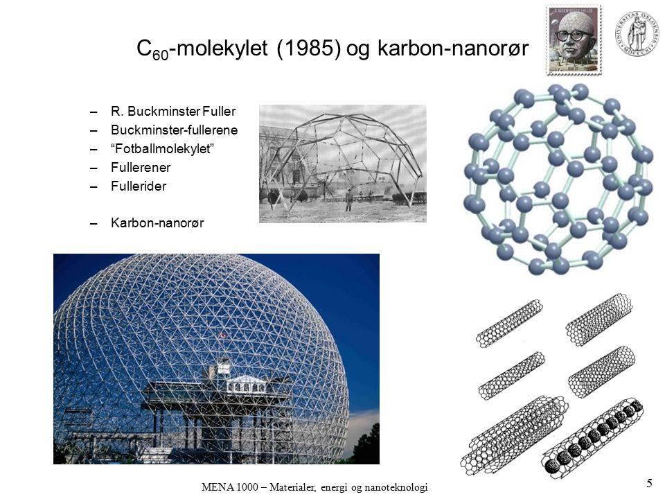 C60-molekylet (1985) og karbon-nanorør