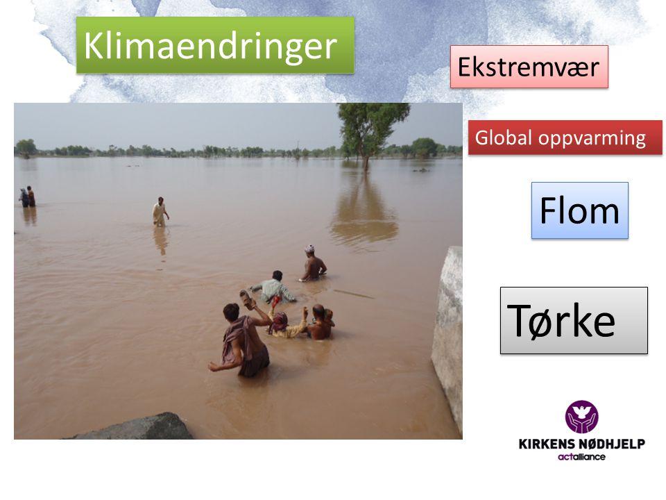 Tørke Klimaendringer Flom Ekstremvær Global oppvarming