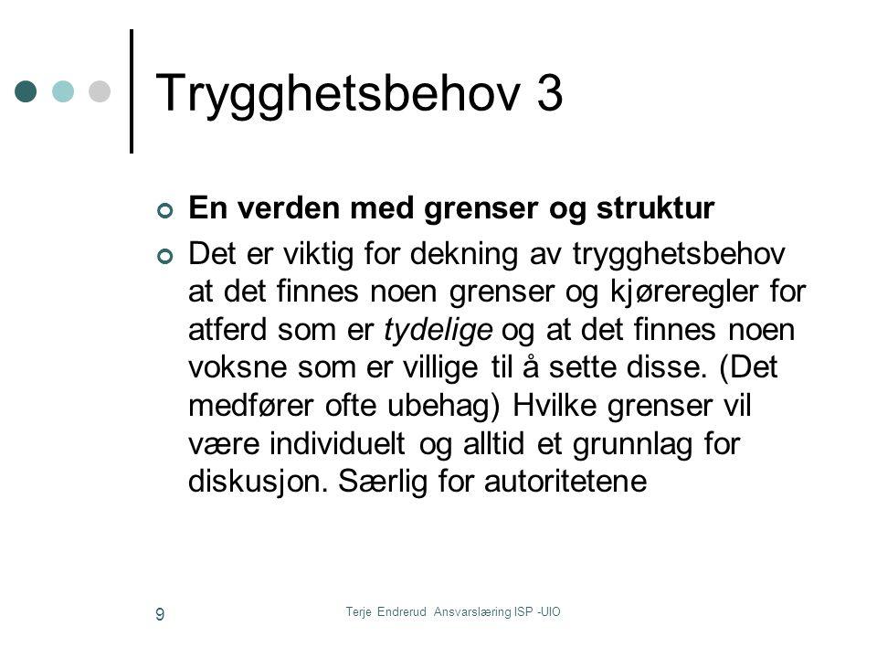 Terje Endrerud Ansvarslæring ISP -UIO