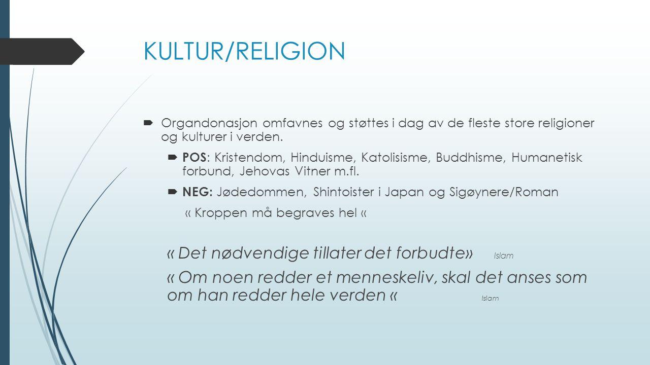 KULTUR/RELIGION « Det nødvendige tillater det forbudte» Islam