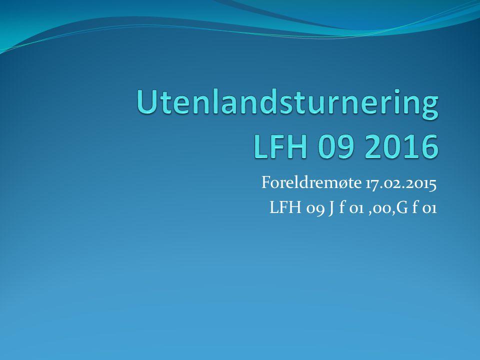 Utenlandsturnering LFH 09 2016