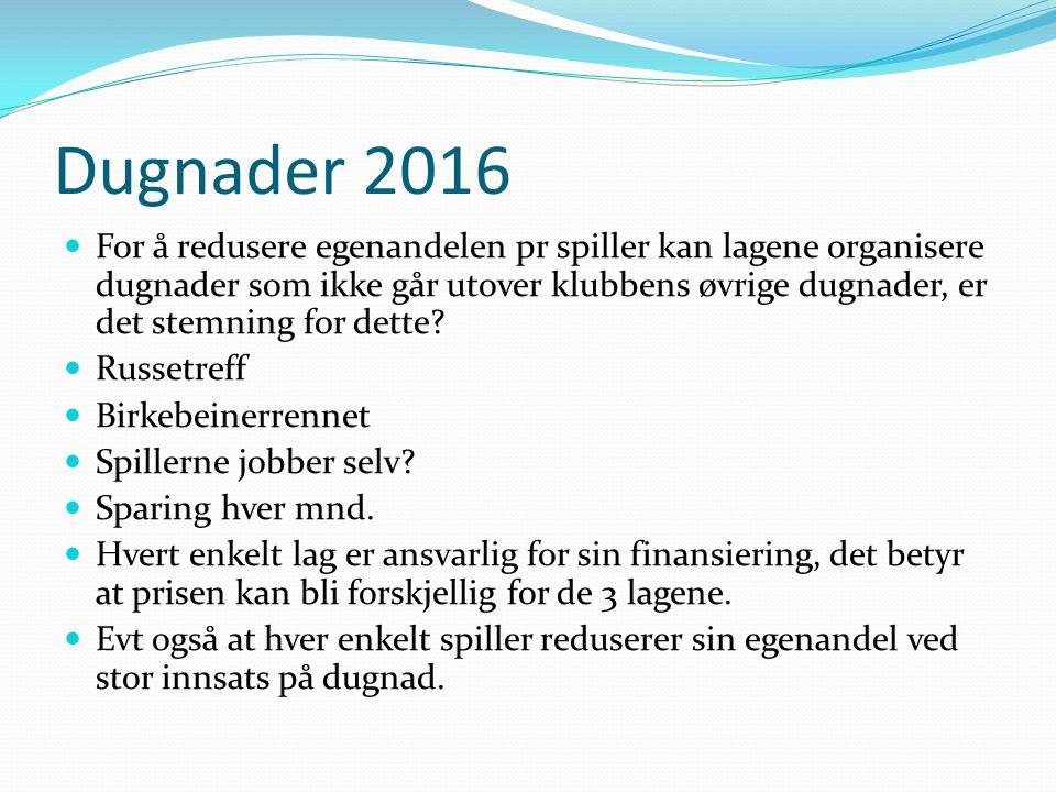 Dugnader 2016