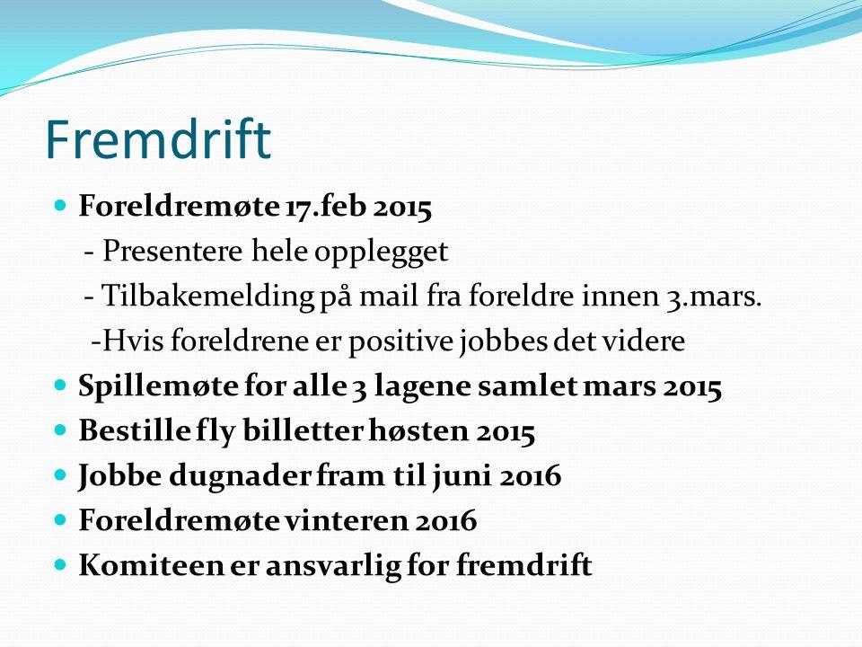 Fremdrift Foreldremøte 17.feb 2015 - Presentere hele opplegget