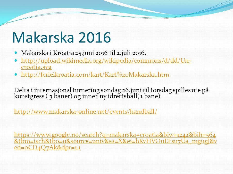 Makarska 2016 Makarska i Kroatia 25.juni 2016 til 2.juli 2016.