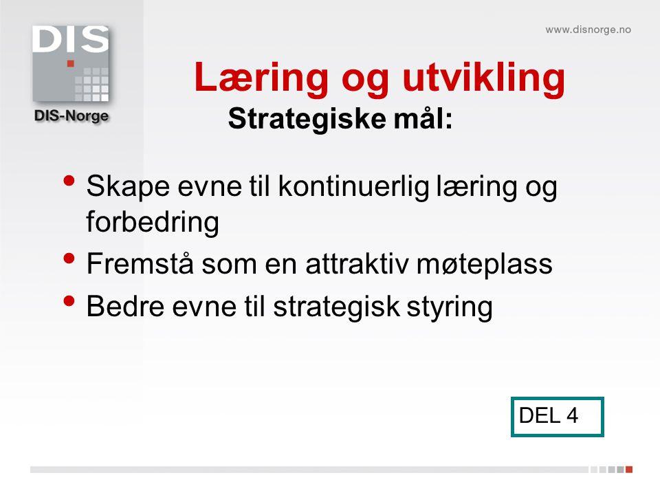 Læring og utvikling Strategiske mål:
