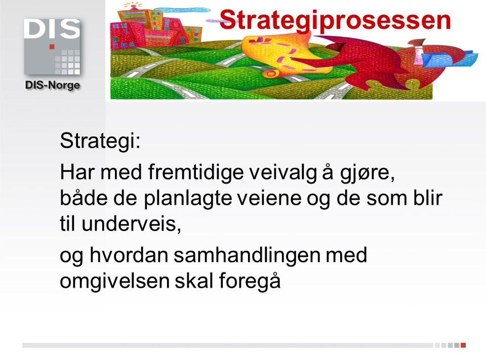 Strategiprosessen Strategi: