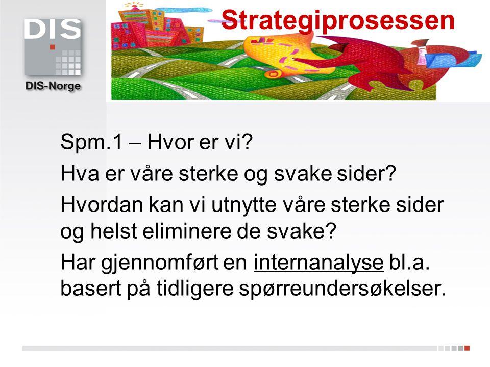 Strategiprosessen Spm.1 – Hvor er vi