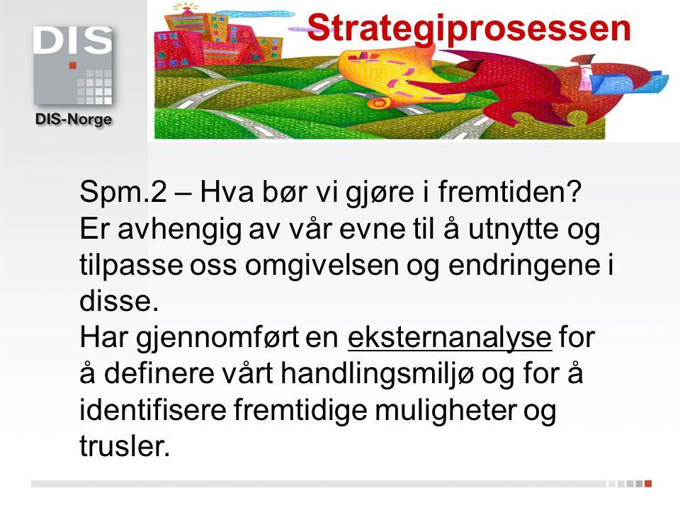 Strategiprosessen Spm.2 – Hva bør vi gjøre i fremtiden
