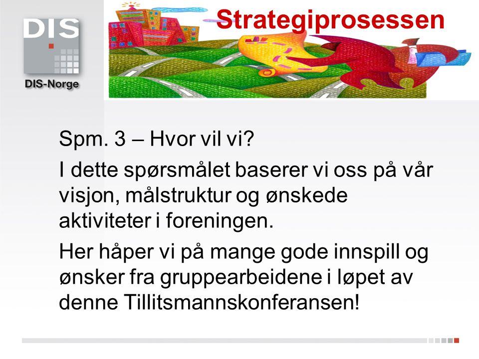 Strategiprosessen Spm. 3 – Hvor vil vi
