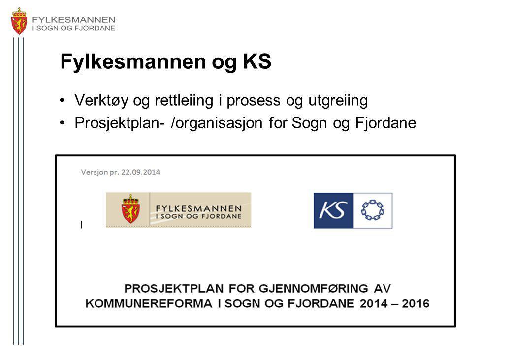 Fylkesmannen og KS Verktøy og rettleiing i prosess og utgreiing