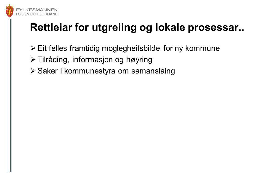 Rettleiar for utgreiing og lokale prosessar..