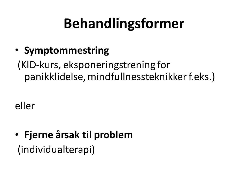 Behandlingsformer Symptommestring