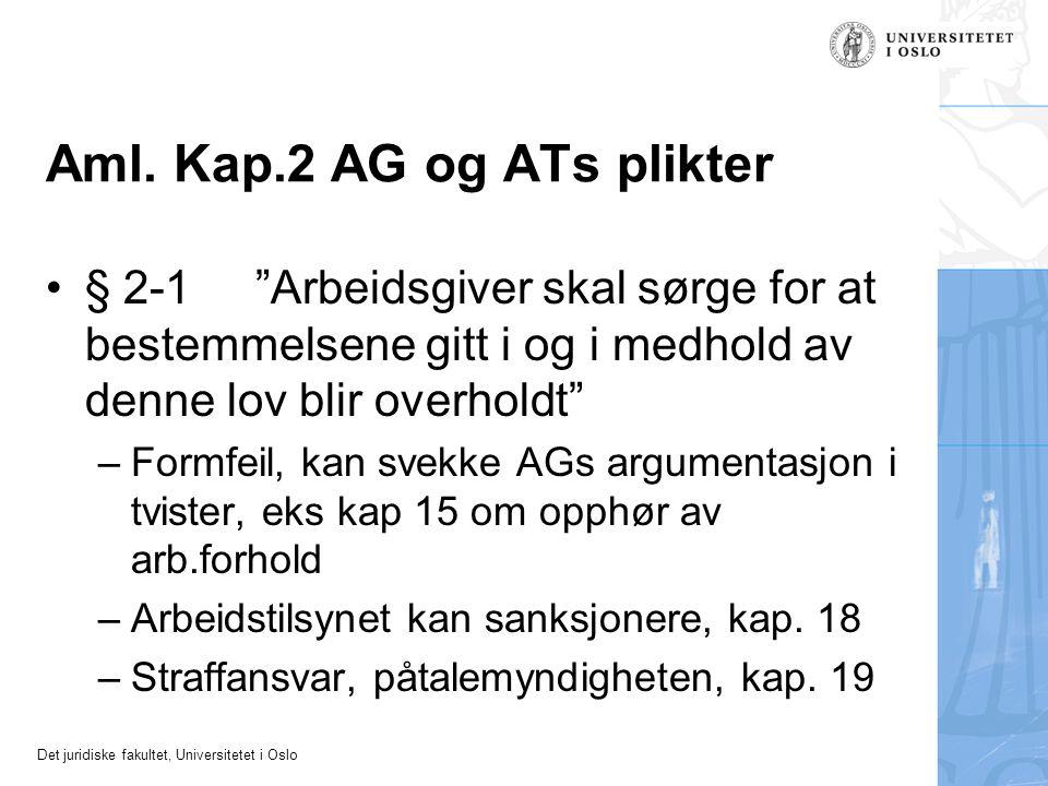 Aml. Kap.2 AG og ATs plikter