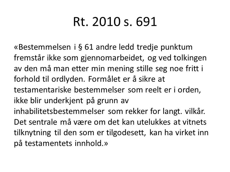 Rt. 2010 s. 691