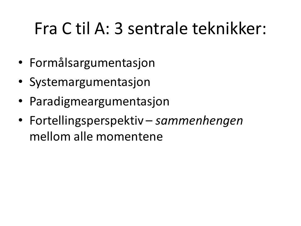 Fra C til A: 3 sentrale teknikker: