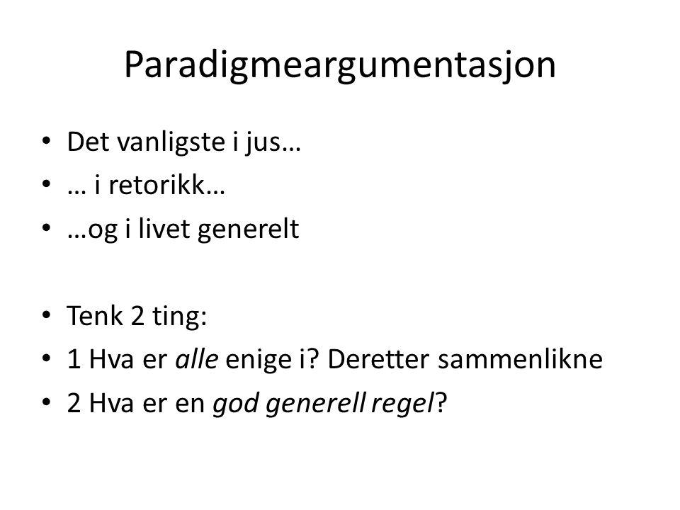 Paradigmeargumentasjon