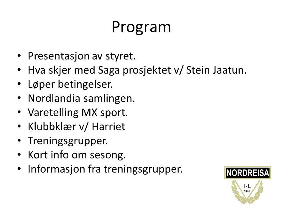 Program Presentasjon av styret.