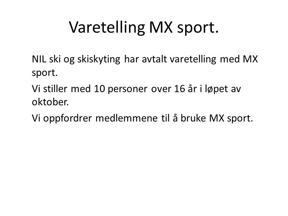 Varetelling MX sport.