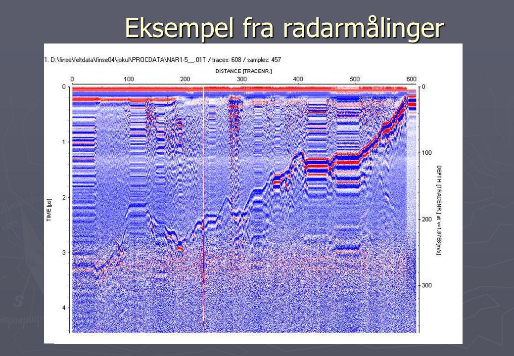 Eksempel fra radarmålinger