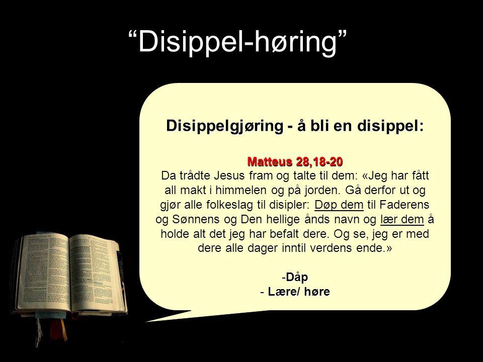 Disippelgjøring - å bli en disippel: