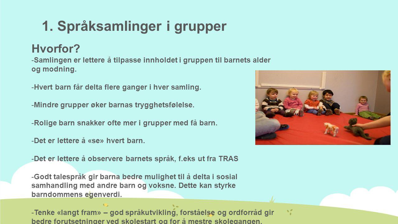 1. Språksamlinger i grupper
