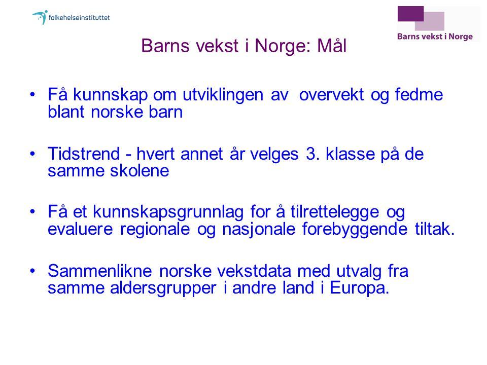 Barns vekst i Norge: Mål