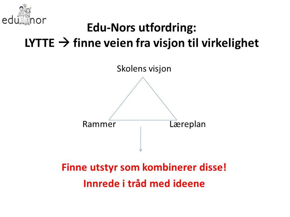 Edu-Nors utfordring: LYTTE  finne veien fra visjon til virkelighet