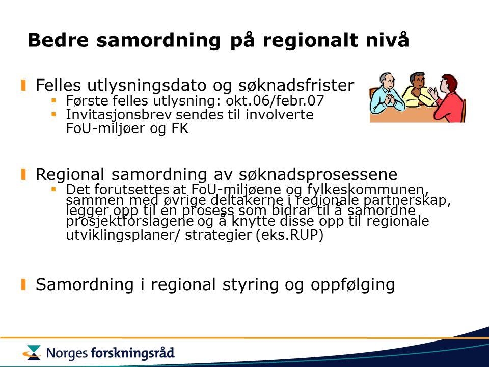 Bedre samordning på regionalt nivå