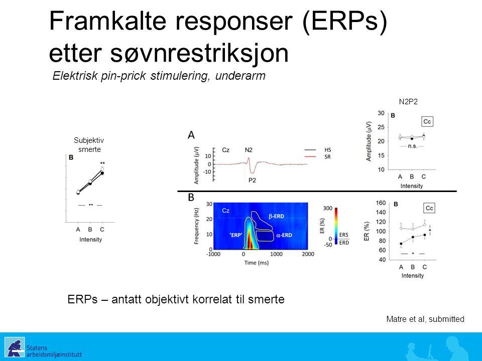 Framkalte responser (ERPs) etter søvnrestriksjon