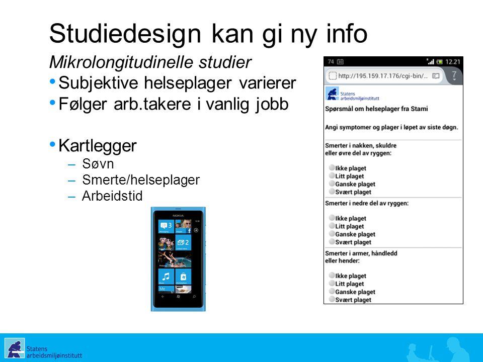 Studiedesign kan gi ny info
