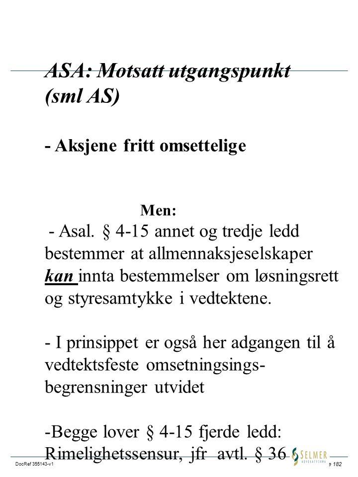 ASA: Motsatt utgangspunkt (sml AS)