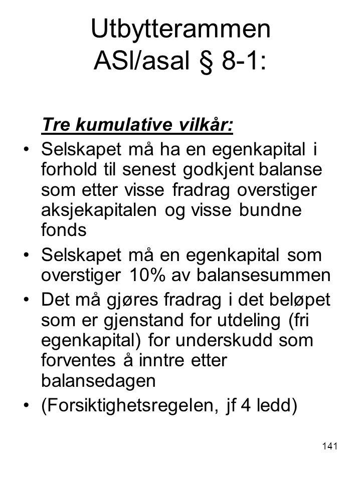 Utbytterammen ASl/asal § 8-1: