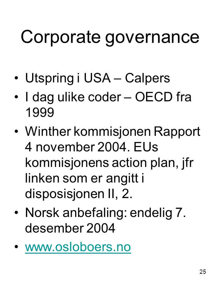 Corporate governance Utspring i USA – Calpers