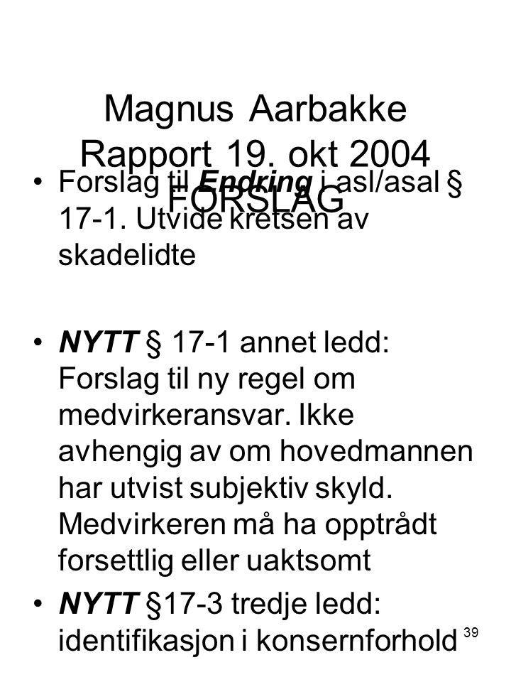 Magnus Aarbakke Rapport 19. okt 2004 FORSLAG