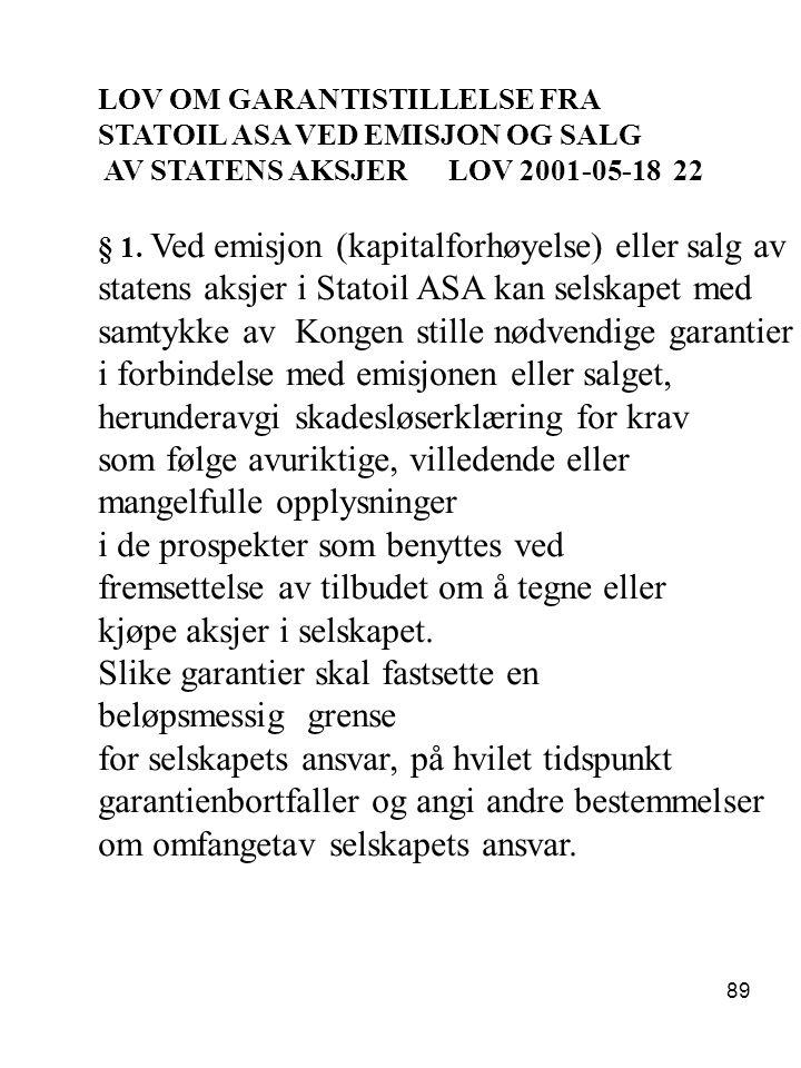 statens aksjer i Statoil ASA kan selskapet med