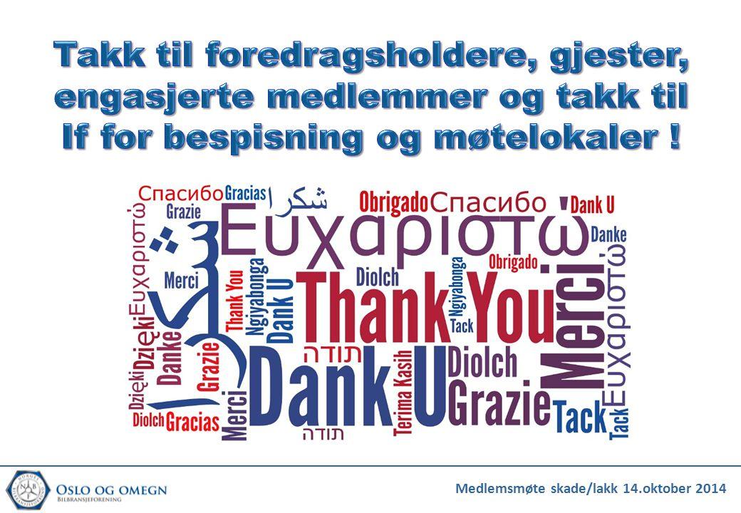Takk til foredragsholdere, gjester, engasjerte medlemmer og takk til If for bespisning og møtelokaler !