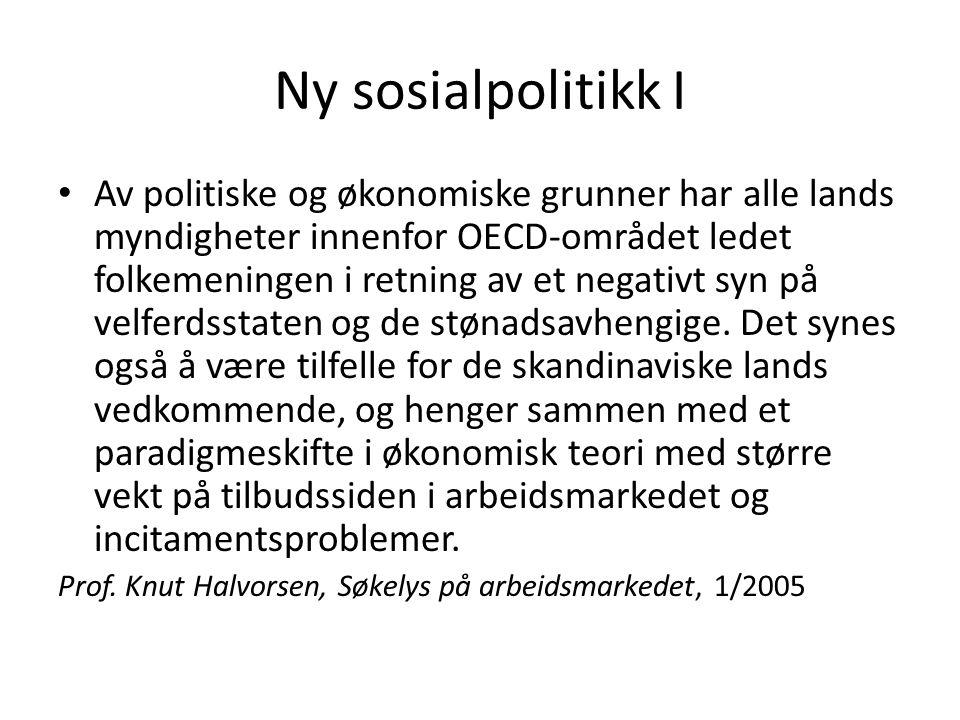 Ny sosialpolitikk I